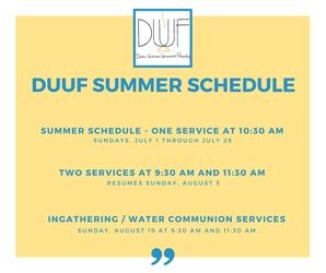 Summer schedule after June 24